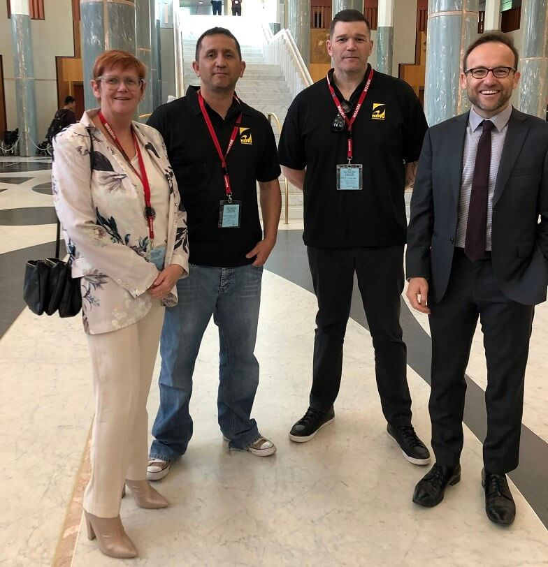 A NZPFU delegation is in Canberra for our global partners United Firefighters Union of Australian annual National Committee of M
