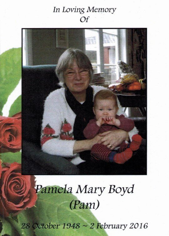 In Loving Memory of Pam Boyd